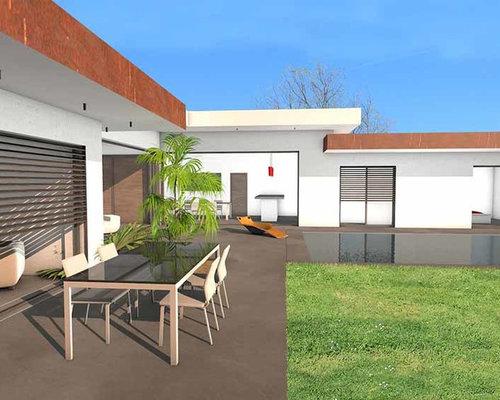 villa d 39 exception parement acier corten. Black Bedroom Furniture Sets. Home Design Ideas