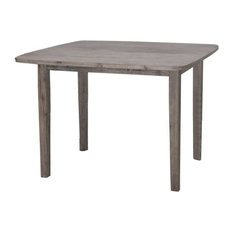 Bowery Hill Dining Table In Driftwood Gray Wire-brush
