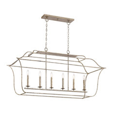 Gallery Island Chandelier, Island Light Century Silver Leaf