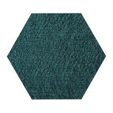 Galaxy Way Solid Color Area Rugs, Green, 3' Hexagon