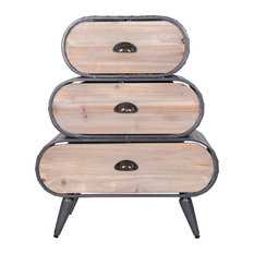 Dion End Or Side Table In Graphite And Rustic