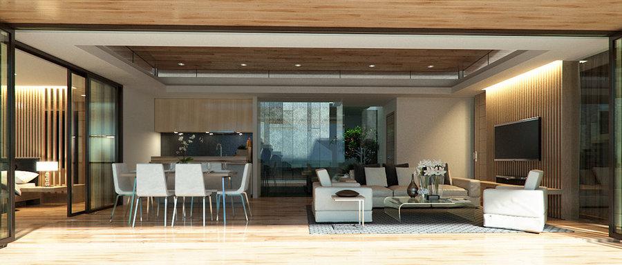 Helinna Villas,Samui -Living room