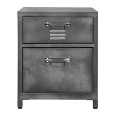 2-Drawer Steel Locker Style Nightstand