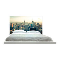 -inchNew York Skyline In The Daytime-inch Headboard
