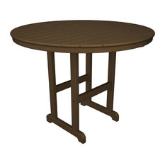 Polywood Round 48-inch Counter Table Teak