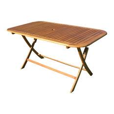 Balau Outdoor Folding Patio Dining Table