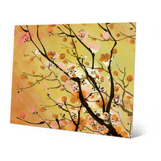 Horizon Worldwide - Japanese Floral Cherry Branch in Yellow - Sepia Wall Art Print 11  sc 1 st  Houzz & 50 Most Popular Asian Metal Wall Art for 2018 | Houzz