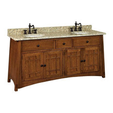 Mccoy Bathroom Vanity, Asbury, Quarter Sawn White Oak, Wood Doors