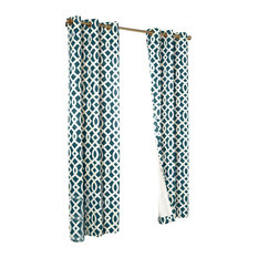 Thermalogic Trellis Cotton Base Cloth Grommet Top Panel Pair Teal