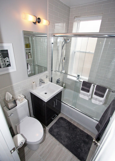 Small Bathroom Remodel Nyc water damage spawns a space-saving bathroom remodel