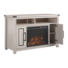 Gladden Fireplace TV Stand 48-inch Rustic White 48-inch