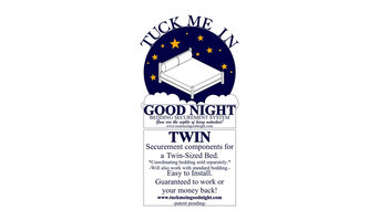 Tuck Me In Good Night - Bedding Retainment Systems