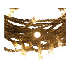 Indoor Fairy Lights 100 Bulbs, Warm White, 10 Metre Clear Cable