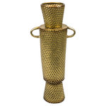 Sagebrook Home - Textured Vase, Metal, Gold, Tall - Sagebrook Home has been formed from a love of design, a commitment to service and a dedication to quality. We create and import fashion forward items in the most popular design styles.