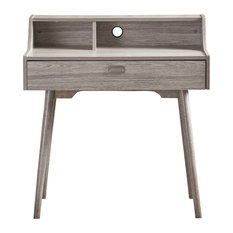 Merveilleux GDFStudio   Elyse Mid Century Modern Finished Fiberboard Home Office Desk,  Gray Oak   Desks