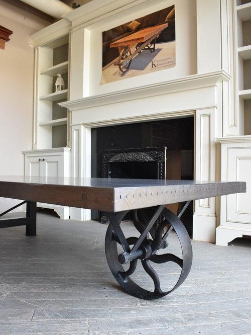 Modern Wheelbarrow Oversized Coffee Table - Wheelbarrow coffee table