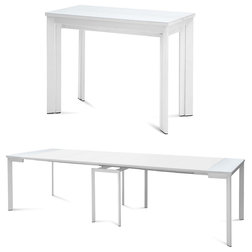 Fresh Modern Dining Tables Mondo Extendable Dining Table White