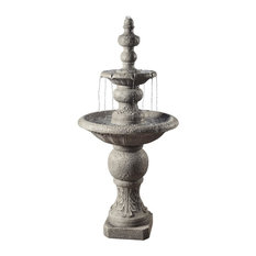 Icy Stone 2-Tier Waterfall Garden Fountain