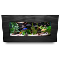 Aussie Aquariums 2.0 Wall Mounted Aquarium - Skyline - Brushed Black