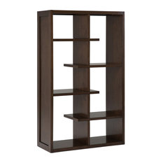 Camden Solid Wood Bookcase Natural Aged Brown