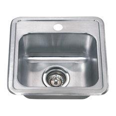 Wells Sinkware 15-inch 22-gauge Drop-in Single Bowl Stainless Steel Bar Sink, Si