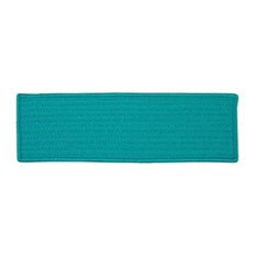 Colonial Mills H049A008X028S Simply Home Solid, Turquoise Stair Tread, Set 13