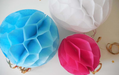 How to Make an Easy Honeycomb Paper Decoration
