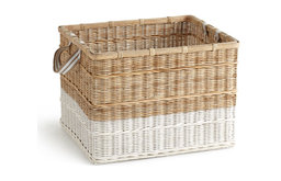 "Medium Woven ""Dipped"" Basket"