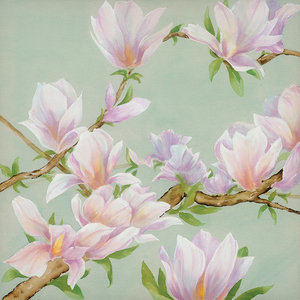 """""""Floral Harmony"""" Canvas Print by Maggie Thompson, 85x85 cm"""