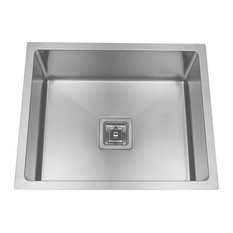 Enki Stainless Steel Kitchen Sink Undermount Small Square Handmade Single Bowl