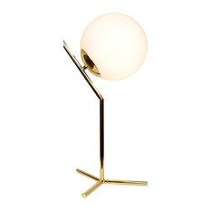 eqlight mid century brass table desk lamp table lamps