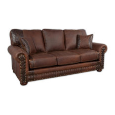Western Rustic Leather Sofa   Sofas