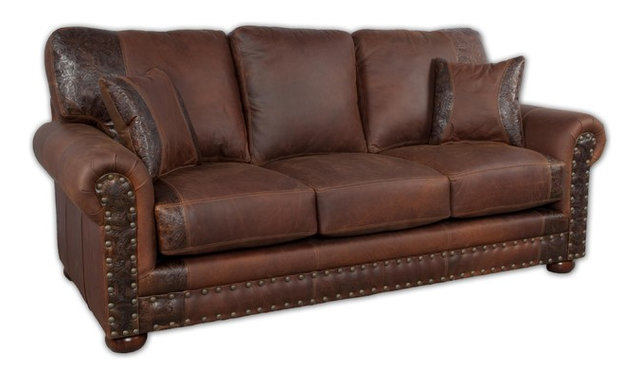 Beautiful Western Rustic Leather Sofa