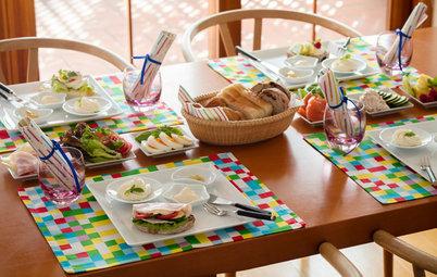 白い器とカラフルな小道具で楽しむ、キッズのサンドイッチパーティー