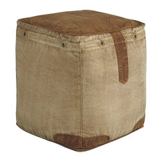 Cinnamon Pouf, Natural