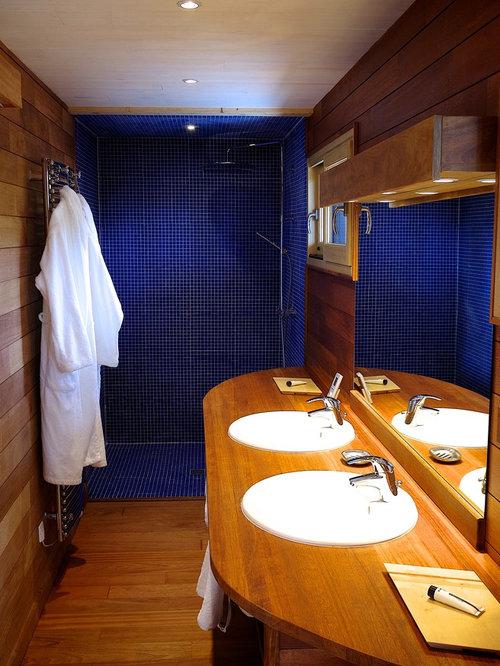 Houzz Blue 5x8 Walk In Shower Design Ideas Remodel Pictures