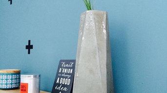 Vase béton