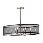 Titus Oval Chandelier 8-Light, Polished Nickel