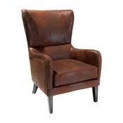 GDF Studio Clarkson Wingback Arm Chair