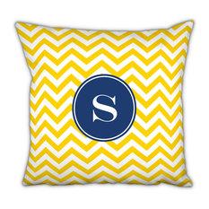 Square Pillow Chevron Single Initial, Letter C