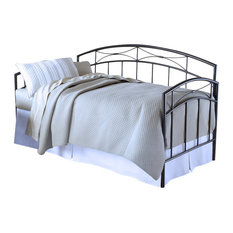 Hillsdale Morris Metal Daybed in Magnesium Pewter Finish-With Trundle
