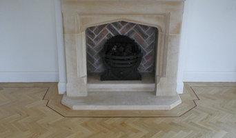 Traditional Living Room with Oak Herringbone Parquet