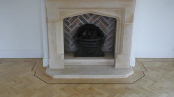 Traditional Living Room with Oak Herringbone Parquet