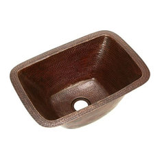 "17"" Rectangle Copper Bar Sink by SoLuna, Matte Copper"