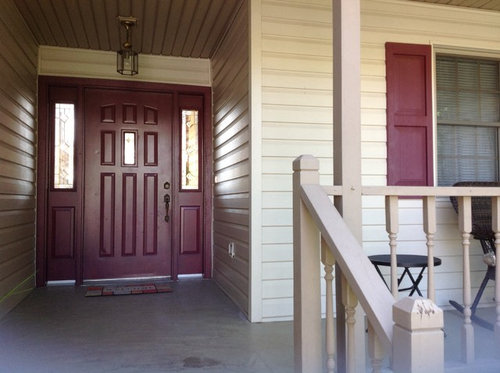 Curly The Shutters And Door Are A Plum Color Roof Is Black I Would Like House To Look More Distinct Thanks All Who Comment