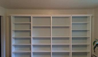 Custom Built Book shelves