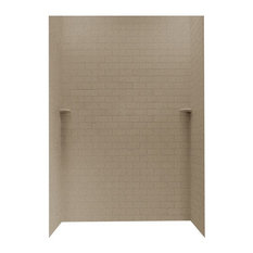 Swan 36x62x96 Solid Surface Shower Wall Kit, Barley