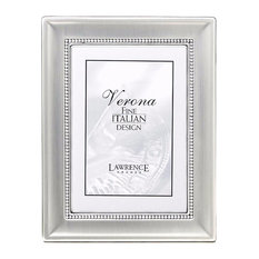 lawrence frames 4x6 metal picture frame two tone silver plated silver