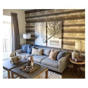 Dustin Gray Shiplap Wood Rustic 2686-20198, Single Roll