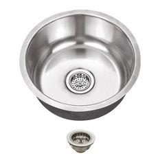 Stainless Steel 18-Gauge Single Bowl Round Bar Sink